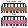 Cheetah Girl Pink and Brown Baby Crib Long Rail Guard Cover by Sweet Jojo Designs