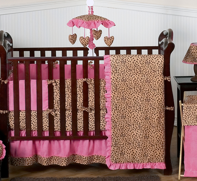 Cheetah Girl Pink and Brown Kids Bathroom Fabric Bath Shower Curtain ...