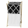 Childrens/Kids Clothes Laundry Hamper for Black and White Trellis Bedding by Sweet Jojo Designs