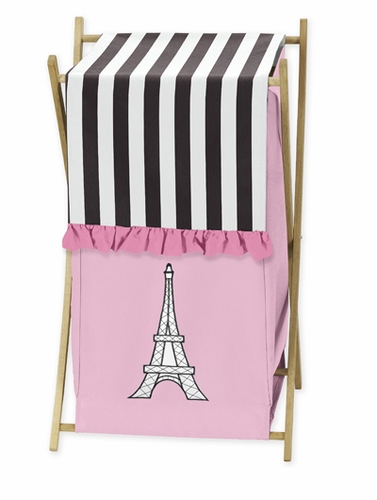 Childrens/Kids Clothes Laundry Hamper for Paris Bedding - Click to enlarge