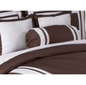 Chocolate and White Hotel Spa Collection Neckroll Bolster Pillow