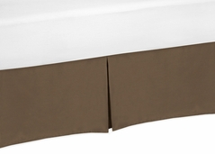 Chocolate Brown Crib Bed Skirt for Baby Bedding Sets by Sweet Jojo Designs