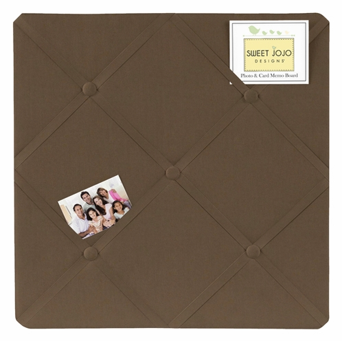 Chocolate Brown Fabric Memory/Memo Photo Bulletin Board - Click to enlarge