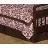 Chocolate Brown Nicole Bed Skirt for Toddler Bedding Sets by Sweet Jojo Designs