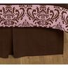 Chocolate Brown Nicole Queen Bed Skirt for Childrens Teens Bedding Sets by Sweet Jojo Designs