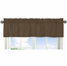 Chocolate Brown Window Valance by Sweet Jojo Designs