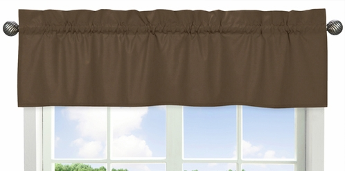 Chocolate Brown Window Valance by Sweet Jojo Designs - Click to enlarge