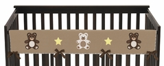 Chocolate Teddy Bear Baby Crib Long Rail Guard Cover by Sweet Jojo Designs