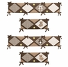 Chocolate Teddy Bear Collection Crib Bumper by Sweet Jojo Designs