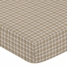 Chocolate Teddy Bear Fitted Crib Sheet for Baby and Toddler Bedding Sets by Sweet Jojo Designs - Plaid Print