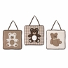 Chocolate Teddy Bear Wall Hanging Accessories by Sweet Jojo Designs