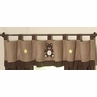 Chocolate Teddy Bear Window Valance by Sweet Jojo Designs
