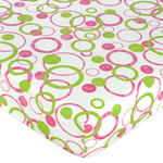 Circles Fitted Crib Sheet for Baby and Toddler Bedding Sets by Sweet Jojo Designs - Circles/Dot Print