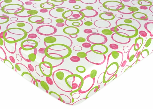 Circles Fitted Crib Sheet for Baby and Toddler Bedding Sets by Sweet Jojo Designs - Circles/Dot Print - Click to enlarge