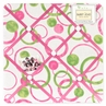 Circles Pink and Green Fabric Memory/Memo Photo Bulletin Board