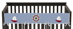 Come Sail Away Baby Crib Long Rail Guard Cover by Sweet Jojo Designs