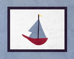 Come Sail Away Nautical Accent Floor Rug