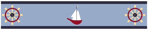 Come Sail Away Nautical Baby and Kids Wall Border by Sweet Jojo Designs - Click to enlarge