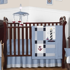 Come Sail Away Nautical Baby Bedding - 11pc Crib Set