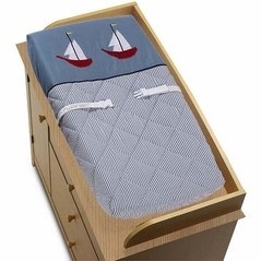 Come Sail Away Nautical Changing Pad Cover