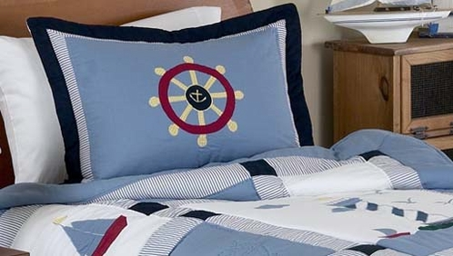 Come Sail Away Nautical Pillow Sham - Click to enlarge