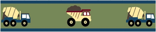 Construction Zone Baby and Childrens Trucks Wall Border by Sweet Jojo Designs - Click to enlarge