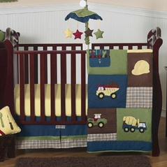 Construction Zone Baby Bedding - 4pc Crib Set