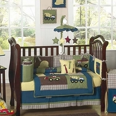 Construction Zone Baby Bedding 9 Pc Crib Set