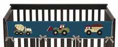 Construction Zone Baby Crib Long Rail Guard Cover by Sweet Jojo Designs