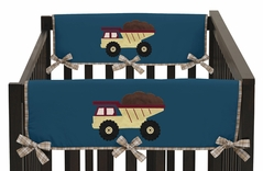 Construction Zone Baby Crib Side Rail Guard Covers by Sweet Jojo Designs - Set of 2