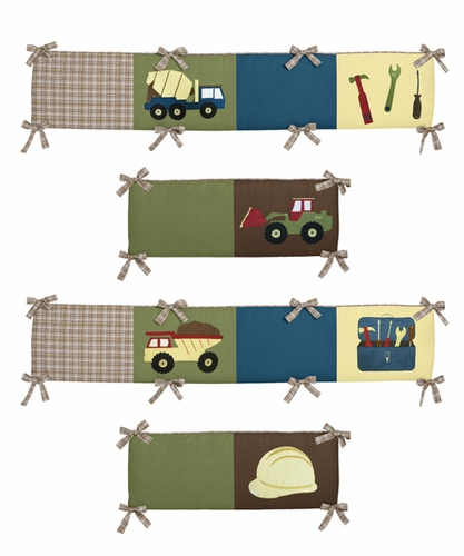 Construction Zone Collection Crib Bumper by Sweet Jojo Designs - Click to enlarge
