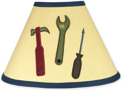 Construction Zone Lamp Shade by Sweet Jojo Designs - Click to enlarge