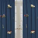 Construction Zone Window Treatment Panels - Set of 2
