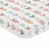 Coral, Grey and Mint  Baby Toddler Fitted Mini Portable Crib Sheet for Mod Arrow Collection by Sweet Jojo Designs