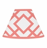 Coral and White Diamond Lamp Shade by Sweet Jojo Designs