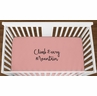 Coral Climb Every Mountain Baby Girl or Toddler Fitted Crib Sheet with Black Inspirational Quote by Sweet Jojo Designs
