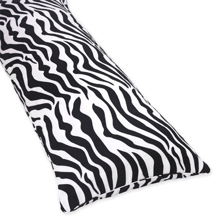 Cotton Full Length Double Zippered Body Pillow Cover for Purple Zebra Bedding Set - Click to enlarge