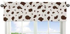 Cow Print Window Valance for Wild West Cowboy Western Collection by Sweet Jojo Designs