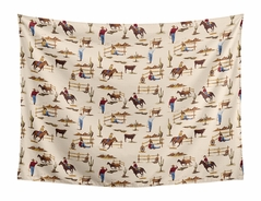 Cowboy Wall Hanging Tapestry Art Decor for Wild West Collection by Sweet Jojo Designs - 60in. x 80in.