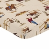 Cowboy Western Baby or Toddler Fitted Mini Portable Crib Sheet for Wild West Collection by Sweet Jojo Designs