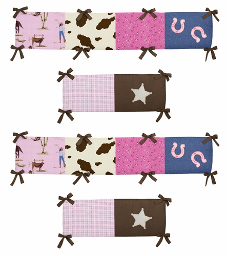 Cowgirl Collection Crib Bumper by Sweet Jojo Designs - Click to enlarge
