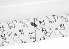 Crib Bed Skirt for Black and White Fox Baby Bedding Sets by Sweet Jojo Designs