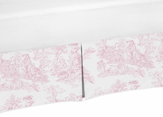 Crib Bed Skirt for Pink French Toile Baby Bedding Sets by Sweet Jojo Designs