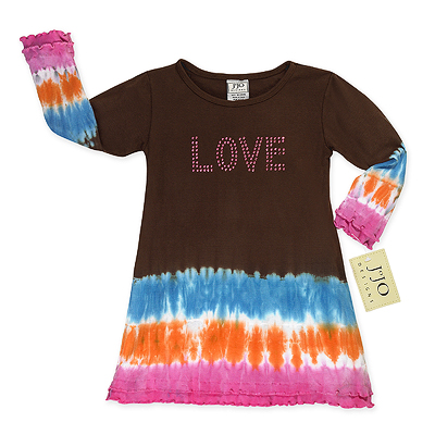 Crystal Love Tie Dye Infant Baby Dress by Sweet Jojo Designs - Click to enlarge