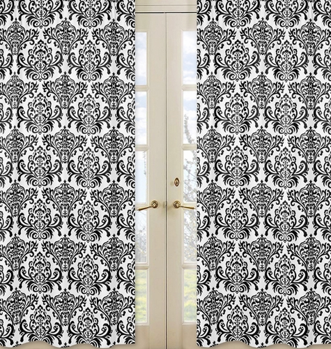 Damask Print Isabella Window Treatment Panels - Set of 2 - Click to enlarge