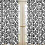 Damask Print Isabella Window Treatment Panels - Set of 2