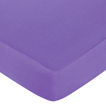 Danielle's Daisies Fitted Crib Sheet for Baby and Toddler Bedding Sets by Sweet Jojo Designs - Solid Dark Purple