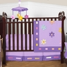 Danielle's Daisies Baby Bedding - 4pc Purple Crib Bedding Set