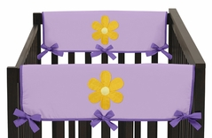 Danielle's Daisies Baby Crib Side Rail Guard Covers by Sweet Jojo Designs - Set of 2