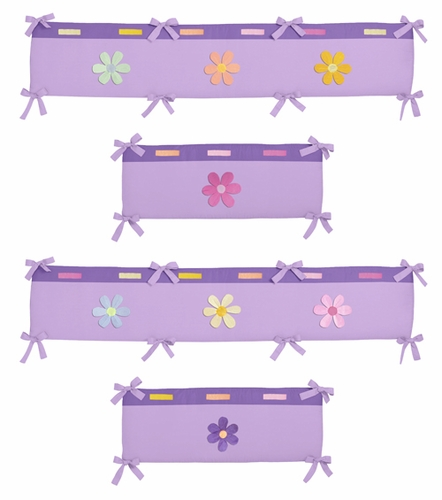 Danielle's Daisies Collection Crib Bumper by Sweet Jojo Designs - Click to enlarge